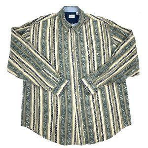 Bugle Boy Company Striped Button Down Shirt